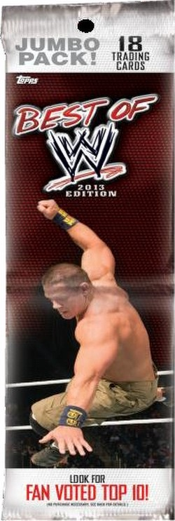 13 2013 Topps Best of WWE Wrestling Cards Jumbo Case [Retail/108 packs]